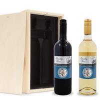 YourSurprise Wijnpakket met etiket - Belvy - Wit en rood