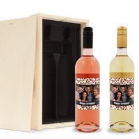 YourSurprise Wijnpakket met etiket - Belvy - Wit en rosé