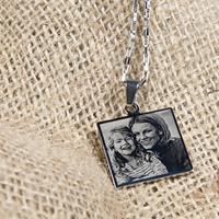 YourSurprise Zilverkleurige fotohanger - Vierkant - Edelstaal