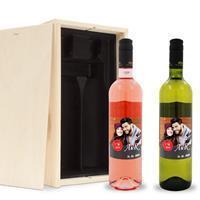 YourSurprise Wijnpakket met etiket - Luc Pirlet - Syrah en Sauvignon Blanc