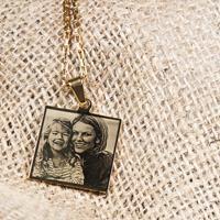 YourSurprise Goudkleurige fotohanger - Vierkant - Edelstaal