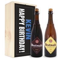 YourSurprise Bier in bedrukte kist - Westmalle Dubbel & Tripel