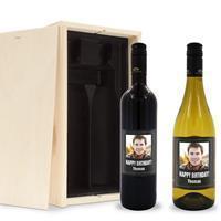 YourSurprise Wijnpakket met etiket - Luc Pirlet - Merlot en Chardonnay