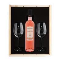 YourSurprise Wijnpakket met wijnglazen - Luc Pirlet Syrah - Gegraveerde glazen