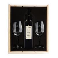 YourSurprise Wijnpakket met wijnglazen - Luc Pirlet Merlot - Gegraveerde glazen