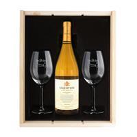 YourSurprise Wijnpakket met wijnglazen - Salentein Chardonnay - Gegraveerde glazen
