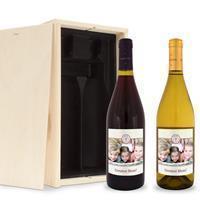 YourSurprise Wijnpakket met etiket - Salentein - Pinot Noir en Chardonnay