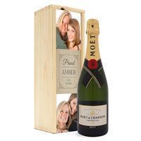 YourSurprise Champagne in bedrukte kist - Moët & Chandon (750ml)