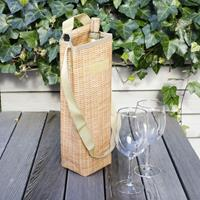 Kikkerland Wicker Wine Cooler