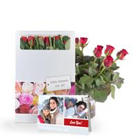 Brievenbus rozen - Rood