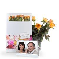 Brievenbus rozen - Oranje