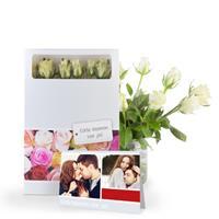 Brievenbus rozen - Wit