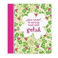 Boek met naam - Ik wens je heel veel geluk - Softcover