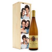 Wijn in bedrukte kist - Mainzer Domherr Spätlese Peter Meyer
