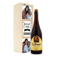 Bier in bedrukte kist - La Trappe Isid'or