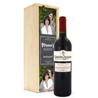 Wijn in bedrukte kist - Ramon Bilbao Crianza
