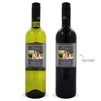 Wijnpakket met etiket - Luc Pirlet - Merlot en Sauvignon Blanc