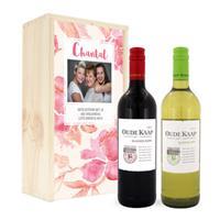Wijnpakket in kist - Oude Kaap - Wit en rood
