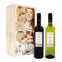 Wijnpakket in kist - Luc Pirlet - Merlot en Sauvignon Blanc
