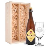 Bierpakket met glas - Westmalle Tripel