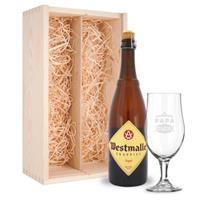 Vaderdag bierpakket met glas - Westmalle Tripel