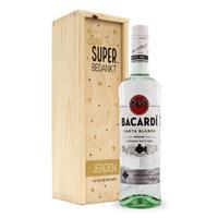 Rum in bedrukte kist - Bacardi (wit)