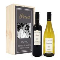 Wijnpakket in kist - Luc Pirlet - Merlot en Chardonnay