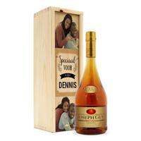 Cognac in bedrukte kist - Joseph Guy