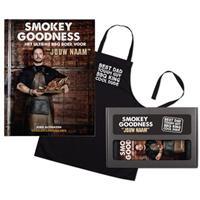 Boek met naam - Smokey Goodness - BBQ pakket voor papa's