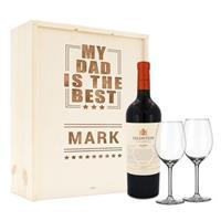Wijnpakket met wijnglazen - Salentein Malbec - Gegraveerde deksel