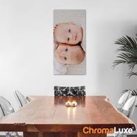 Foto op aluminium - Wit (ChromaLuxe) - 30 x 60