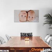 Foto op aluminium - Wit (ChromaLuxe) - 60 x 30