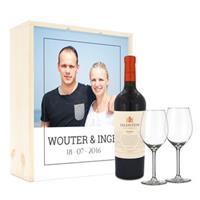 Wijnpakket met wijnglazen - Salentein Malbec - Bedrukte deksel