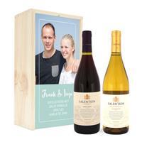Wijnpakket in kist - Salentein - Pinot Noir en Chardonnay