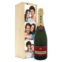 Champagne in bedrukte kist - Piper Heidsieck Brut (750ml)