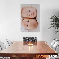 Foto op aluminium - Wit (ChromaLuxe) - x 60