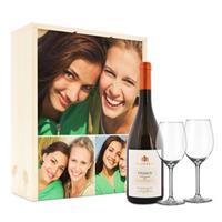 Wijnpakket met wijnglazen - Salentein Primus Chardonnay - Bedrukte deksel