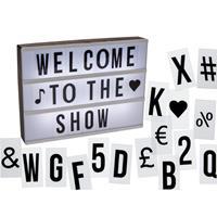 Cinema LightBox A4 - incl. 84 Letters & Symbolen - Letterbord