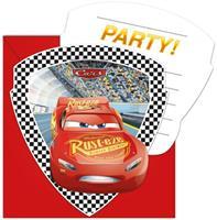 Disney 6 Cars 3 uitnodigingen en enveloppen