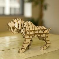 Kikkerland 3D puzzel van hout - Tijger