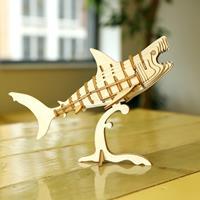 Kikkerland 3D puzzel van hout - Haai