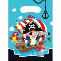 Amscan feestzakjes piraten 8 stuks 23 cm
