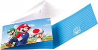 Nintendo Uitnodigingskaartjes Super Mario 8 stuks