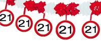 Slinger papier verkeersbord 21 jaar