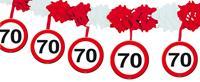 Slinger onderhangend verkeersbord 70