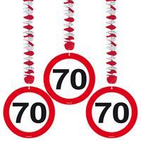Hangdecoratie verkeersbord '70'