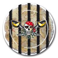Rode Piraat Piraten borden - 8 stuks