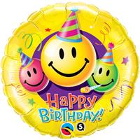 Happy Birthday Smiley Faces Folieballon