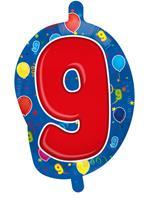 9 Jaar Folie/Helium Cijfer Ballon - 56cm