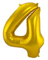 Gouden Folieballon Cijfer 4 - cm